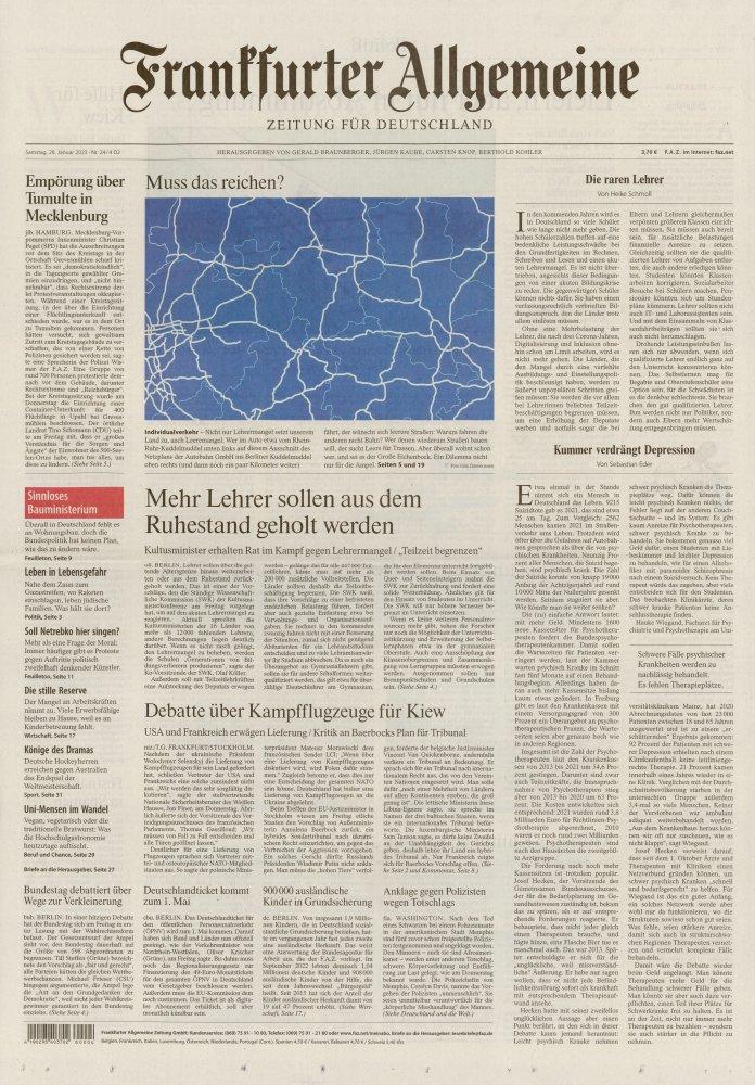 Frankfurter Allgemeine Samstag