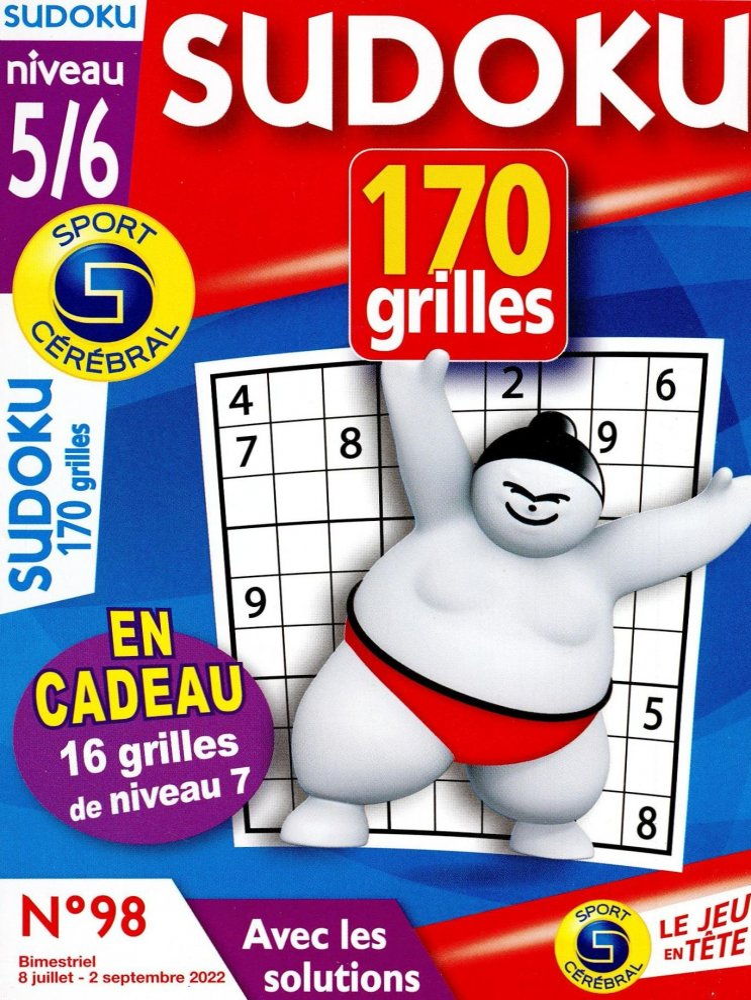 SC Sudoku 170 grilles Niveau 5/6