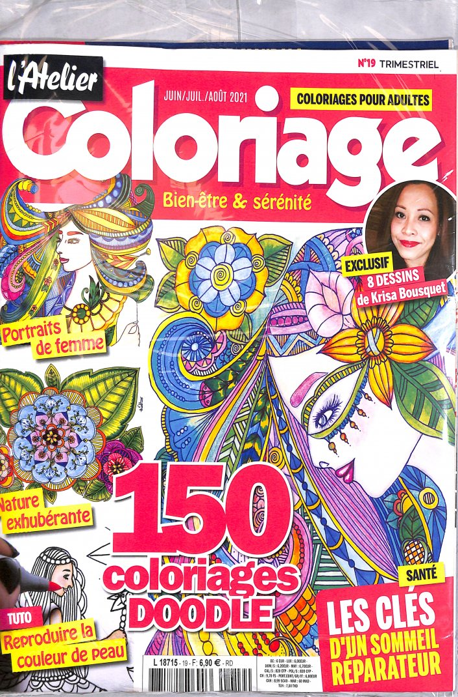 Revue Coloriage Adulte.Www Journaux Fr L Atelier Coloriage