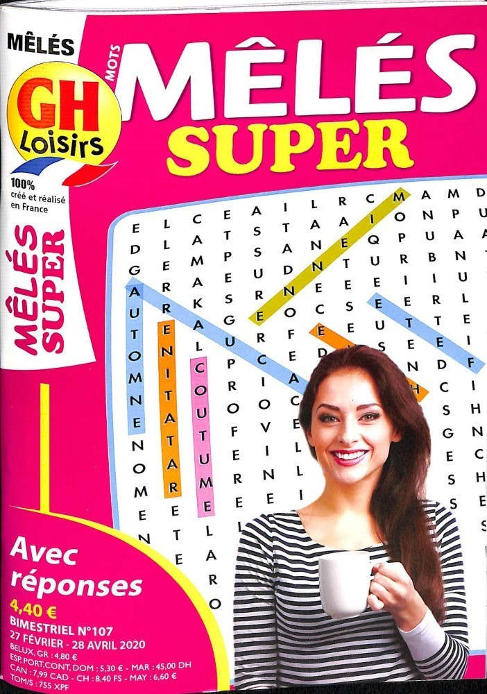 GH Mots Mêlés Super 132 Pages