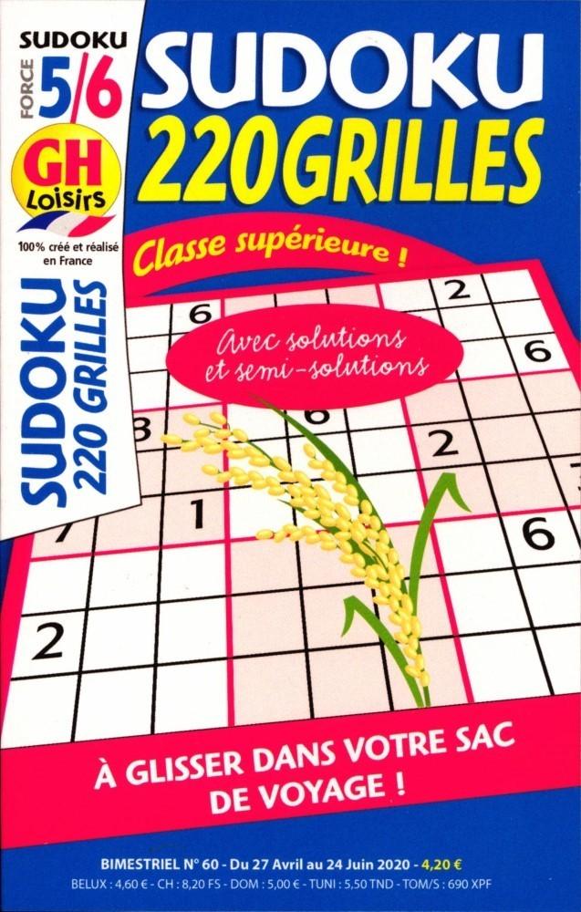 GH Sudoku 220 Grilles Niveau 5/6