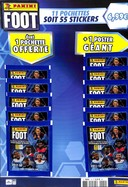 Pack Foot 2017-18 - 11 Pochettes soit 55 Stickers