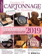 Passion Fil - Cartonnage & Broderie + Magazine